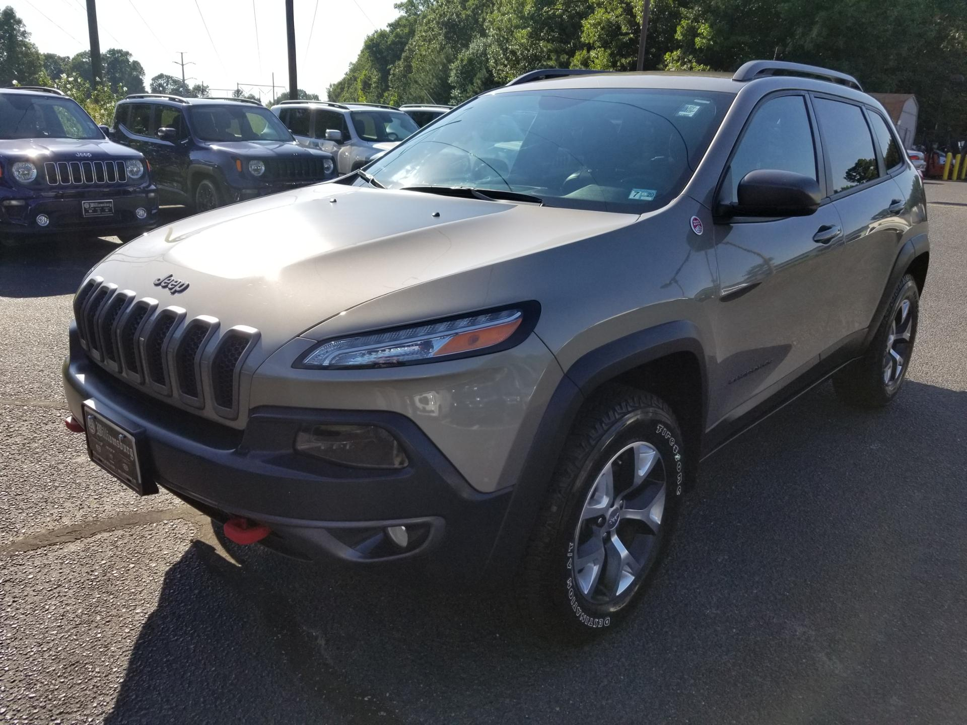 Jeep Certified Pre-Owned >> Certified Pre Owned 2017 Jeep Cherokee Trailhawk Ut In Williamsburg